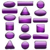 Eighteen purple buttons Stock Image