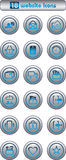 Eighteen silver website icons Stock Photography