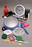 Eighteen Various Plastic Items Stock Photography