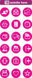 Eighteen website icons Royalty Free Stock Photos