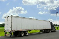 Eighteen wheeler truck Stock Image