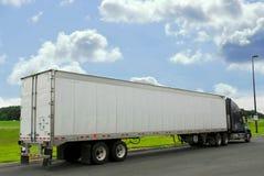 Eighteen wheeler truck stock image