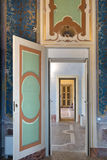 Eighteenth century series of doors. PAVIA, PV, ITALY - MARCH 23: Giornate FAI di Primavera - Spring days FAI - Open doors at Vistarino Palace march 23, 2014 in royalty free stock image