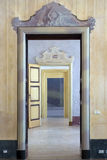 Eighteenth century succession of open doors. PAVIA, PV, ITALY - MARCH 23: Giornate FAI di Primavera - Spring days FAI - Open doors at Vistarino Palace march 23 royalty free stock image