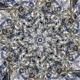 Eightfold Abstract. A complex abstract of major eight axes star at center, suitable for tiling to fit for a background or fit into porcelain or ceramic tiles royalty free stock image