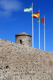 Eighth century fortress, Castillo de Gibralfaro Stock Photography