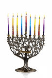 Eighth day of Chanukah. XXL. Chanukah Menorah. Eighth day of Chanukah. XXL Stock Photography