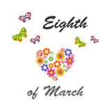 Eighth of march card. The illustration dedicated to the eighth of March - Womens Day Royalty Free Stock Photography
