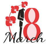 Eighth of March. Date of international women's day the eighth of March Stock Photography