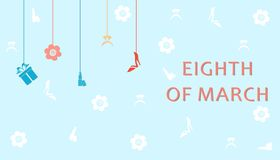 The eighth of march. The illustration dedicated to the eighth of March - Womens Day Royalty Free Stock Photos