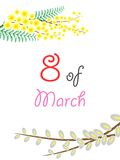 Eighth of march. The illustration - the greeting - on the theme of eighth of March Stock Images