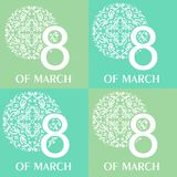 Eighth of march set. The illustration dedicated to the eighth of March - Womens Day Royalty Free Stock Images