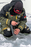 Eighth World Ice Fishing Championship in Kharkiv region, Ukraine on February 5-6, 2011 Stock Images