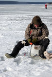 Eighth World Ice Fishing Championship in Kharkiv region, Ukraine on February 5-6, 2011 Royalty Free Stock Image