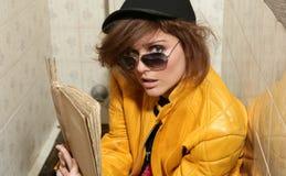 Eighties fashion metaphor rebel student Royalty Free Stock Image