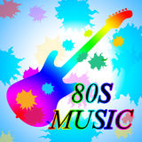 Eighties Music Shows Acoustic Music And Soundtrack Stock Photography