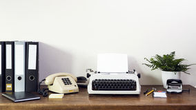 Eighties office desk Royalty Free Stock Images