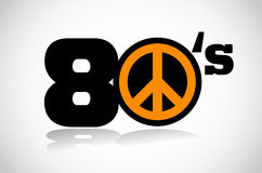 Eighties peace symbol Stock Photo