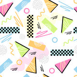 Eighties Seamless Pattern Vector Royalty Free Stock Photos