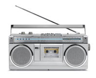 Eighties vintage radio cassette player Stock Images