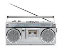 Eighties vintage radio cassette player Stock Images