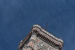 Eighty-five meter high tower Giotto`s Campanile - bell tower of the Basilica di Santa Maria Del Fiore. Eighty-five meter high tower Giotto`s Campanile designed stock image