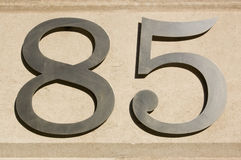 Eighty Five number Stock Image