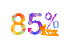85 eighty five percents sale. Vector triangular digits Royalty Free Stock Images