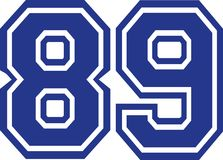 Eighty-nine college number 89. Vector Stock Images