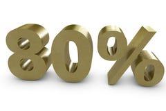 Eighty percent Royalty Free Stock Photos