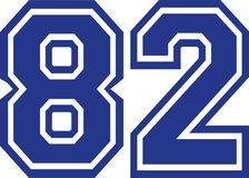 Eighty-two college number 82. Vector Royalty Free Stock Photo