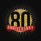 Eighty years anniversary celebration logotype. 80th anniversary logo. Royalty Free Stock Photography