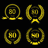 80 eighty years  icon Template for celebration and Stock Photo