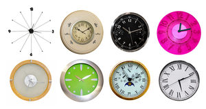 Eighyt clocks Stock Photo