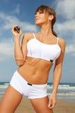 Eignung auf Strand Lizenzfreie Stockbilder