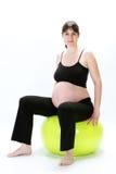 Eignung der schwangeren Frauen Lizenzfreies Stockfoto
