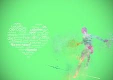 Eignung, die abstrakten Hintergrund laufen lässt stock abbildung