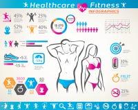 Eignung und Wellness infographcs vektor abbildung