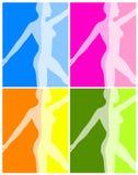 Eignung-Yoga-oder Tanz-Hintergründe Lizenzfreie Stockbilder