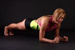 Eignungfrau in gymnastisch-kleiden an Lizenzfreies Stockbild