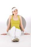 Eignungjugendlichfrau in der sportiven Ausstattung Lizenzfreies Stockfoto