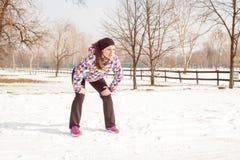 Eignungs-Frauen-Winterbetrieb stockbilder