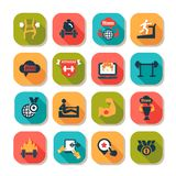 Eignungs- und Gesundheitsikonen Lizenzfreies Stockfoto