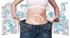 Eignungskonzept des perfekten Körpers Stockbilder
