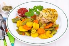 Eignungsmenü Proteine und Kohlenhydrate lizenzfreies stockfoto