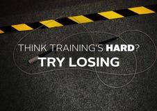Eignungsmotivationszitat für Ihr besseres Training lizenzfreie stockfotos