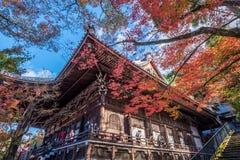 Eikando寺庙在秋天 免版税库存照片
