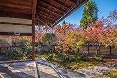 Eikando寺庙在秋天 免版税库存图片