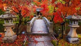 Eikando at autumn, Kyoto. Eikando Zenrinji Temple with red autumn foliage colors in Kyoto, Japan Royalty Free Stock Photography