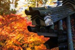 Eikando roof against autumn colors, Kyoto Royalty Free Stock Photos